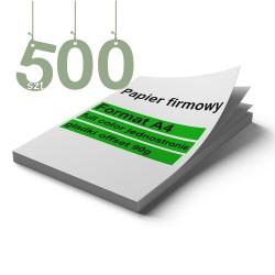 Papiery firmowe 500szt