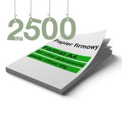 Papiery firmowe 2500szt
