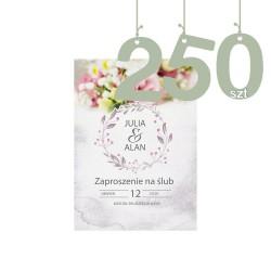 Zaproszenia 250szt