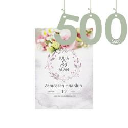 Zaproszenia 500szt