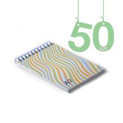 Notesy spiralowane A7 50szt