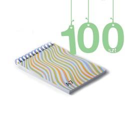 Notesy spiralowane A7 100szt