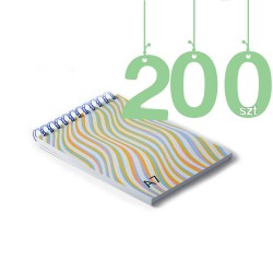 Notesy spiralowane A7 200szt