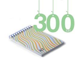 Notesy spiralowane A7 300szt
