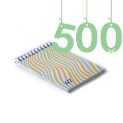 Notesy spiralowane A7 500szt