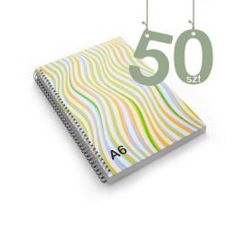Notesy spiralowane A6 50szt