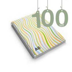 Notesy spiralowane A6 100szt