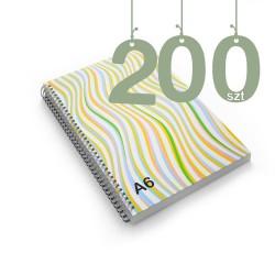 Notesy spiralowane A6 200szt
