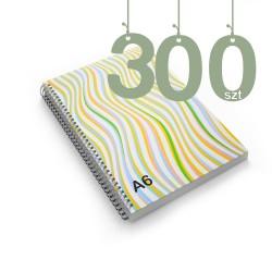 Notesy spiralowane A6 300szt