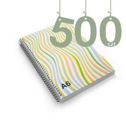Notesy spiralowane A6 500szt