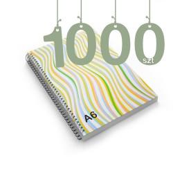 Notesy spiralowane A6 1000szt