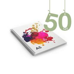 Notesy spiralowane A5 50szt