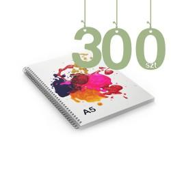 Notesy spiralowane A5 300szt