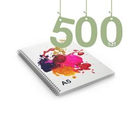 Notesy spiralowane A5 500szt