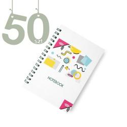 Notesy spiralowane A4 50szt