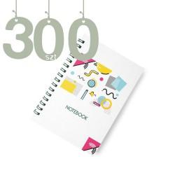 Notesy spiralowane A4 300szt