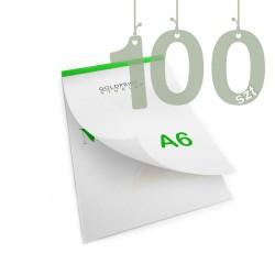 Notesy klejone A6 100szt