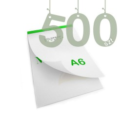 Notesy klejone A6 500szt