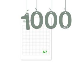Notesy klejone A7 1000szt