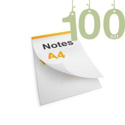 Notesy klejone A4 100szt