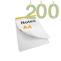 Notesy klejone A4 200szt