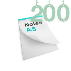 Notesy klejone A5 200szt