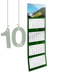 Kalendarze czterodzielne 10szt