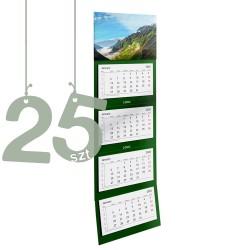 Kalendarze czterodzielne 25szt