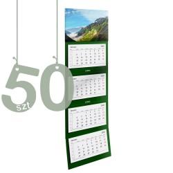 Kalendarze czterodzielne 50szt