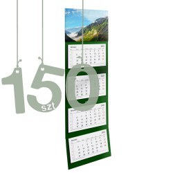 Kalendarze czterodzielne 150szt
