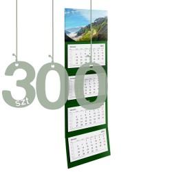 Kalendarze czterodzielne 300szt