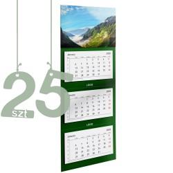 Kalendarze trójdzielne typ Standard 25szt