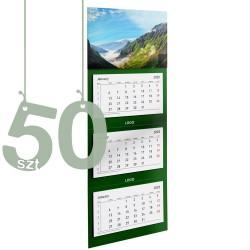 Kalendarze trójdzielne typ Standard 50szt