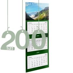 Kalendarze trójdzielne typ Standard 200szt