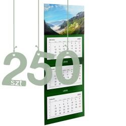 Kalendarze trójdzielne typ Standard 250szt
