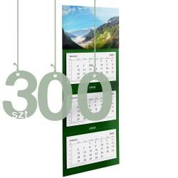 Kalendarze trójdzielne typ Standard 300szt