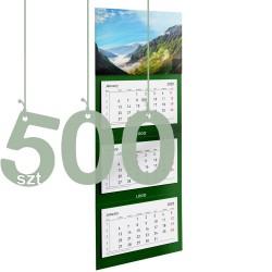 Kalendarze trójdzielne typ Standard 500szt