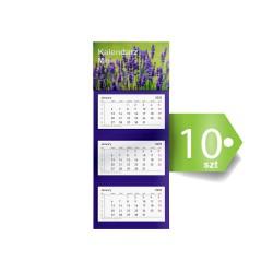Kalendarze Trójdzielne Mini Ekonomiczne 10szt
