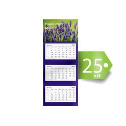 Kalendarze Trójdzielne Mini Ekonomiczne 25szt