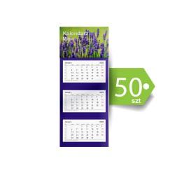 Kalendarze Trójdzielne Mini Ekonomiczne 50szt