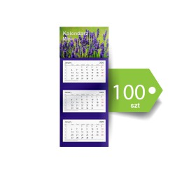 Kalendarze Trójdzielne Mini Ekonomiczne 100szt