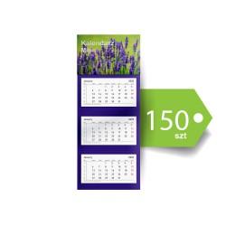 Kalendarze Trójdzielne Mini Ekonomiczne 150szt