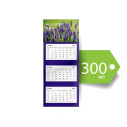 Kalendarze Trójdzielne Mini Ekonomiczne 300szt