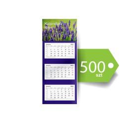 Kalendarze Trójdzielne Mini Ekonomiczne 500szt