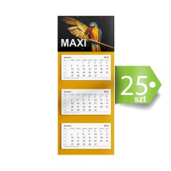 Kalendarze trójdzielne MAXI 25szt