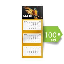 Kalendarze trójdzielne MAXI 100szt