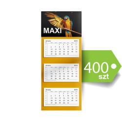 Kalendarze trójdzielne MAXI 400szt