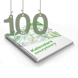 Kalendarze zeszytowe 100szt