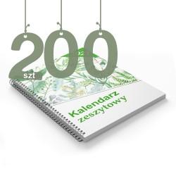 Kalendarze zeszytowe 200szt