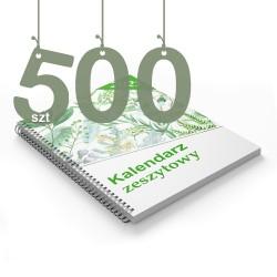 Kalendarze zeszytowe 500szt